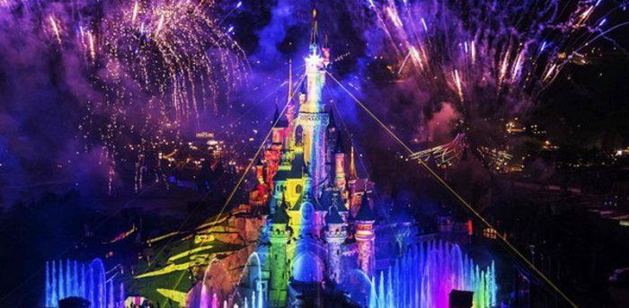 Disneyland laser show