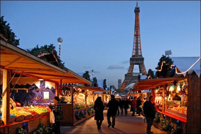 Рождественская ярмарка в Париже 2013